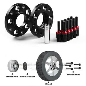 For BMW E36 E82 E88 15mm M12x1.5mm Hubcentric Wheel Spacers 72.56mm CB Black 2pc