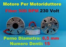 MOTORE ELETTRICO Motoriduttore FIBER 500 rpm 60 secondi 230v