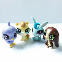 4pcs Hasbro Littlest Pet Shop LPS Dabby Stoutley Animals Pets In The City figues