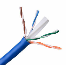 Lot of 2 - CAT6E Ethernet 550MHz CMR Cable Blue 1000FT - 23AWG COPPER - NOT CCA