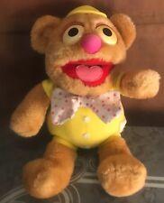 "1985 Hasbro Softies Muppet Babies Fozzie Bear Plush 12"" Stuffed Animal"