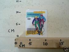 STICKER,DECAL GRUNDIG  FIAC MOUNTAIN BIKE WORLD CUP 1991 CYCLING