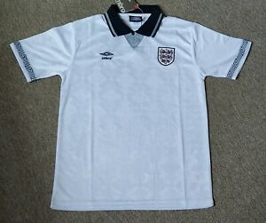 1990 World Cup England Home Retro  Shirt Size Medium Brand New With tag.