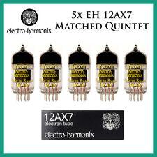 New 5x Electro Harmonix 12AX7 / ECC83 | Matched Quintet / Five Tubes | EH
