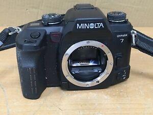 Minolta Dynax 7 35mm Film Camera Body - Rear Door Jammed (Untested)