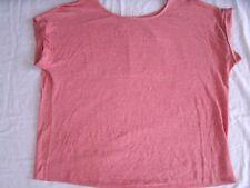 Eileen Fisher Linen Shirt Heathered Short Sleeves M Medium