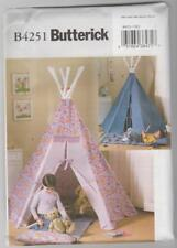 Butterick Sewing Pattern B4251 Children's Teepee or Tepee Tent and Mat