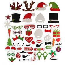 New DIY 50pcs Photo Booth Props Mustache Christmas Stick Weddings Birthday Party