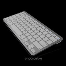 Silver Slim Wireless Bluetooth Keyboard for Apple iPhone iPad 2 3 4 Mac Tab PC