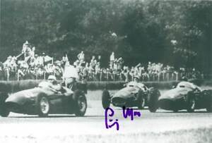 STIRLING MOSS - GREAT 100 % ORIG SIGNED PHOTO - SIGNED IN PERSON