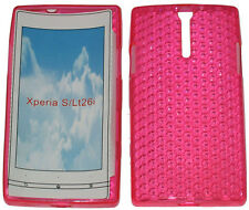 Pattern Soft Gel Case Protector Cover For Sony Xperia S LT26i LT26 Pink New UK