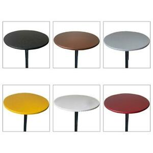 Solid Color Round Fitted Tablecloth Waterproof Elastic Edged Dining Table Cloth