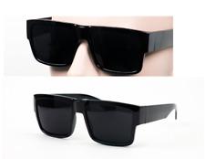Large Square Cholo Sunglasses Super Dark Style Blackframe