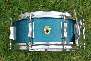 """1959 Ludwig """"BUDDY RICH"""" SUPER CLASSIC BLUE SPARKLE SNARE DRUM! LOT #Z333"""