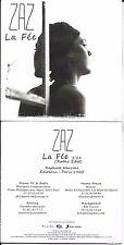 CD CARTONNE CARDSLEEVE COLLECTOR 1T ZAZ LA FÉE (RAPHAEL) NEUF SCELLE 2011