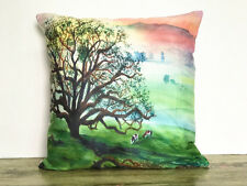 1x Simple painting Life tree Home Decor sofa Cushion Covers Pillow Case 18X18''