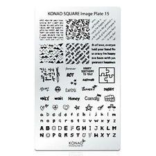 Konad Stamping Nail Art Square Image Plate 15