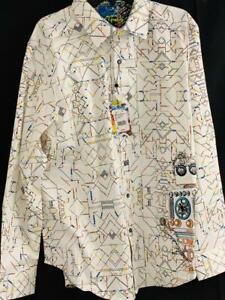"""ROBERT GRAHAM Mens NWT """"Short Circuit  """" Long Sleeve Shirt, Sz XL, new release"""