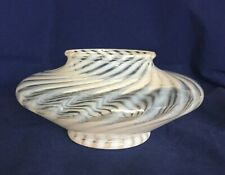 Lovely Vintage Fenton French Opalescent Spiral Optic Opalescent Rose Bowl / Vase