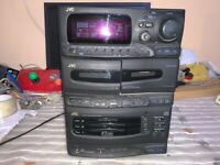 Amplificador de CD de cassette estéreo JVC MX-C220 No probado