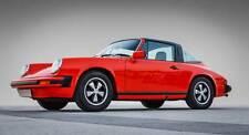 Leinwand Bild Porsche 911 Targa 964 C2 G Modell Rot Klassiker Alu Coupe Oldtimer