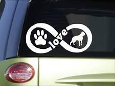 Boston Terrier Infinity sticker *H411* 4 x 8.5  inch vinyl dog decal