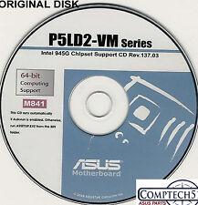 ASUS GENUINE VINTAGE ORIGINAL DISK FOR P5LD2-VM Motherboard Drivers Disk M841