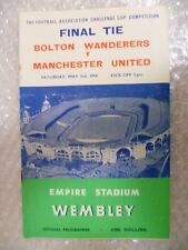 1958 FA Cup FINAL Programme BOLTON WANDERERS v MANCHESTER UNITED, 3rd May
