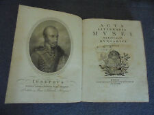 ACTA LITTERARIA MUSEI NATIONALIS HUNGARICI - TOMUS I - 1818 (K-3)