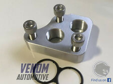 Toyota / Lexus V8 Oil Filter Adapter Plate -10AN -8AN Billet 1UZ-FE 2UZ - Type 1