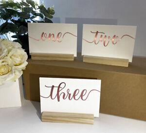 A6 Acrylic Table NUMBERS 10 x 15 cm, SIGNS, wedding decor, birthday, restaurant