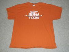 "University of Texas ""Students Hooked on Texas"" Burnt Orange S/S Shirt, XL"