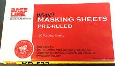 Masking Sheet Press Ryobi 512, 520, 522 Ruled KR522