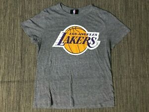 NBA Adult Womens Large Los Angeles Lakers 72 Champs Tee T Shirt Gray