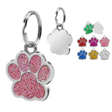 Paw Pet Id Tags Custom Engraved Dog Cat Tag Personalized