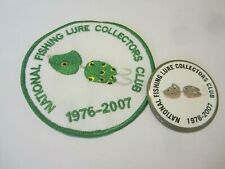 New listing Vintage fishing lure Nflcc pin patch 21 yrs