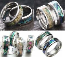 12x Stainless steel Color Shell Rings Tungsten Carbide Finger Ring Wedding Ring