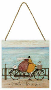 Sam Toft - A Breath of Fresh Air - Wooden Block Wall Art 20 x 20 x 3cm EMB10797