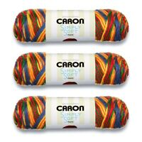 Caron Simply Soft Paints Yarn, 3 Skeins, Gauge 4 Medium Worsted