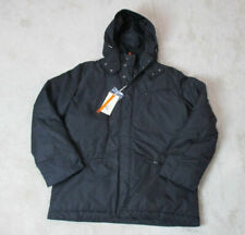 869d5c55b1 NEW Cerruti 1881 Jacket Adult Extra Large Black Full Zip Coat Hooded Italy  Mens