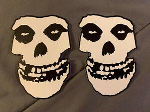 "Lot of 2 MISFITS 3"" x 4"" Band Logo Sticker Black White FAST SHIP! FIEND Danzig"