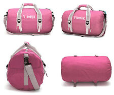 Gym Duffle Holdall Travel Barrel Mens Womens Unisex Sports Bag Green / Pink