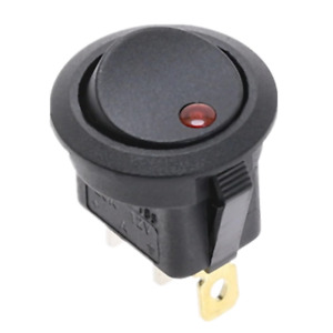 12V Red Led Round Rocker Switch 3 pin ON-OFF Car Dash Dashboard. 0182