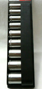 """New Craftsman USA 9-pc 3/8"""" Drive 12-point Deep SAE ,Easy Read 9-pc Socket Sets"""