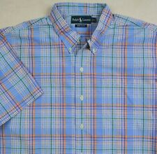 Ralph Lauren Bob Camp Button-Front Plaid Shirt Size XL NWT 90bd45c49a5