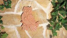 Terracotta Wandbild Eule Toskana Dekoration Garten Haus