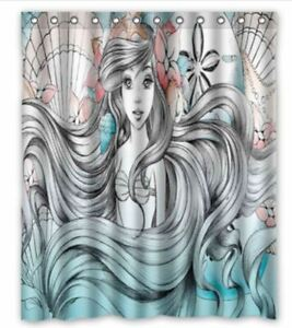 great ariel little mermaid shower curtain 60 x 72 inch with hooks