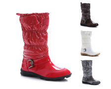 Damen Winterstiefel Winterschuhe Boots Stiefel Siefelette Komfort Schnalle 110