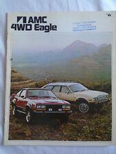 AMC 4WD Eagle range brochure 1981 German text