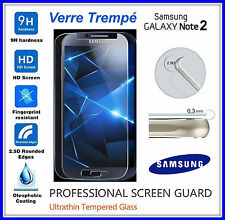 SAMSUNG GALAXY NOTE 2 Tempered Glass Vitre de protection écran VERRE TREMPE